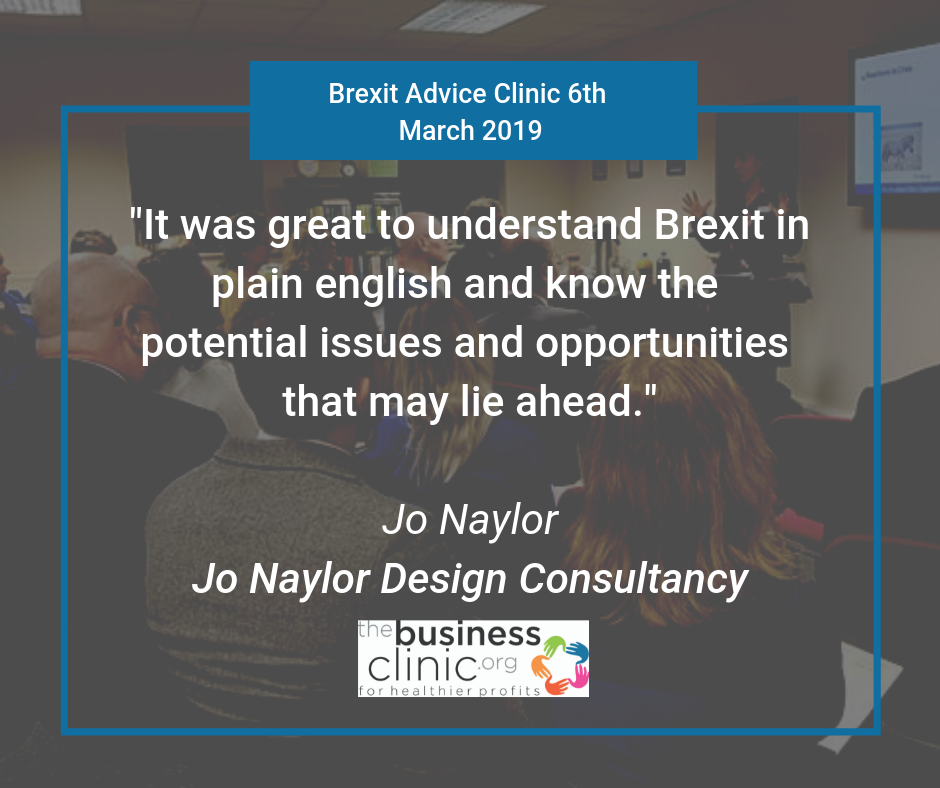 Brexit Advice Clinic Feedback Jo Naylor